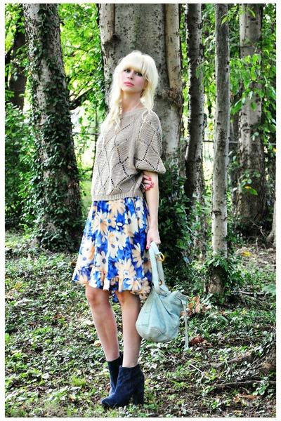 vintage dress - romwe sweater