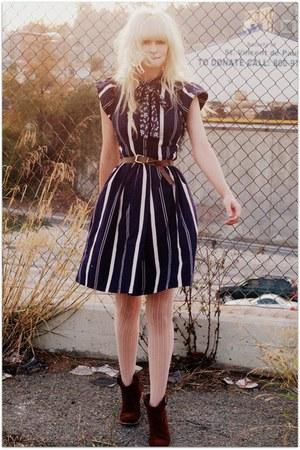 navy vintage dress