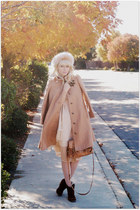 beige ClubCouture dress - beige vintage coat