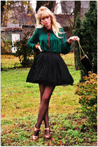 vintage skirt - romwe blouse