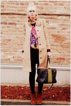 black TenOverSix bag - camel ruffian for anthropologie coat