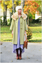 vintage coat - francescas loafers