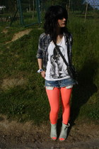 carrot orange new look tights - aquamarine Franchesco Morichetti boots