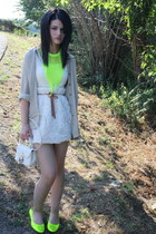 ivory H&M Kids dress - beige escada shirt - off white Furla bag