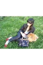Arrow USA blazer - Juicy Couture bag - Carolina Herrera sunglasses - Nine West f