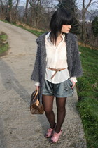 heather gray Ct PLAGE jacket - bubble gum Fendi heels