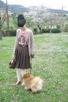 Bottega Veneta shoes - Dolores Promesas shirt - Louis Vuitton bag - Mango cardig