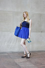 Blue-big-blue-bag-blue-high-waisted-forever-21-skirt