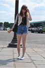 Cream-h-m-blazer-black-mango-bag-sky-blue-levis-shorts-violet-h-m-sneakers