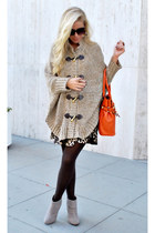 Michael Kors cape - andrew charles dress - olivia & joy purse