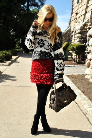 free people sweater - Giambattista Valli skirt