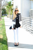 white J Brand jeans - black and white BCBG blazer