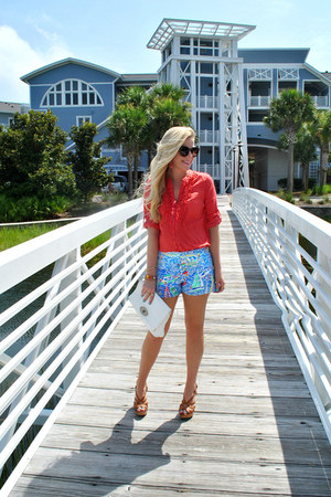 polka dot top LC Lauren Conrad top - nautical shorts Lilly Pulitzer shorts