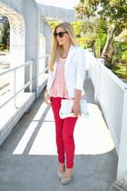 white blazer calvin klein blazer - skinny jeans Salsa Jeans jeans