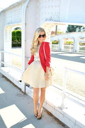 bow dress LC Lauren Conrad dress - red LC Lauren Conrad blazer
