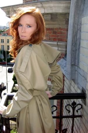 beige PDG coat