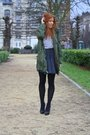 Green-thrift-coat-white-h-m-t-shirt-black-h-m-skirt-black-zara-shoes