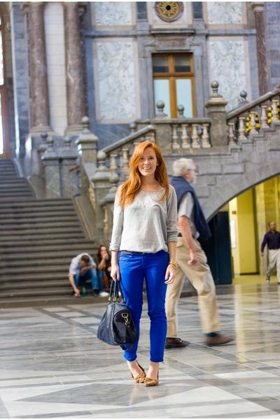 H&M t-shirt - Zara jeans - les composantes bag - H&M flats