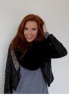 black DIY jacket - silver American Apparel sweater - black H&M scarf
