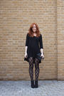 Gray-yesstyle-jacket-black-h-m-dress-black-h-m-tights-black-zara-shoes
