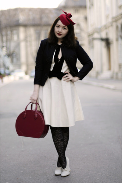 Guinot bag - Noir by Corina Vladescu dress - fandacsia hat