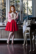red LaChatterie skirt - ivory vivienne westwood shoes
