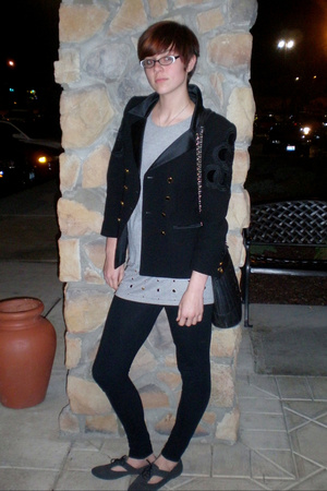 escada blazer - dress - tights - Urban Outfitters shoes - Chanel purse - necklac