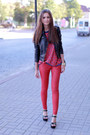 Black-sheinside-jacket-black-vjstyle-bag-red-new-yorker-pants