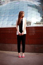 black chiffon vjstyle romper - white chicnova vest