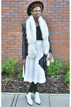 ivory faux fur new look scarf