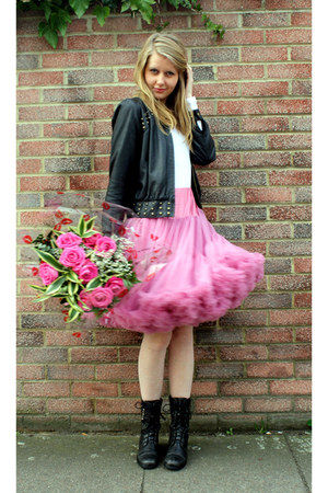 tulle Beyond Retro skirt - studded No doubt boots - leather Lipsy jacket