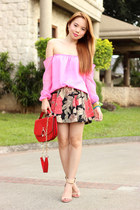 red Young & Sweet bag - bare shoulder pinkaholic fashion shoppe top