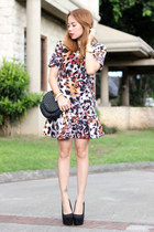 printed blackfive dress