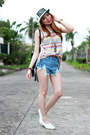 Denim-shorts-oasap-shorts-top-style2go-top