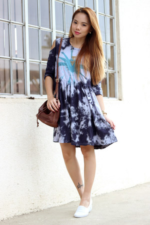 tie dye Black Five dress