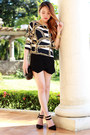 Origami-pinkaholic-shorts-printed-blackfive-top-suede-forever21-heels