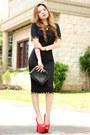 Dress-romwe-dress-lionhead-oasap-necklace