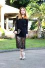 Black-front-row-shop-dress-lucite-heels-luxury-mall-heels