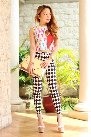 ice cream pinkaholic top - harlequin print pinkaholic pants