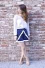 White-chiffon-romwe-shirt-blue-cotton-diy-shorts