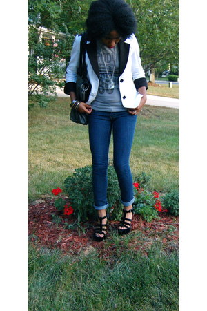 charcoal gray vera wang bag - black Michael Kors wedges