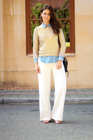H&M sweater - H&M shirt - 31 Phillip Lim bag - asos pants - sam edelman sandals