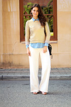 H&M sweater - H&M shirt - 31 Phillip Lim bag - asos pants - sam edelman sandals