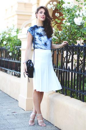 31 Phillip Lim bag - asos skirt - asos heels - asos t-shirt - Michael Kors watch