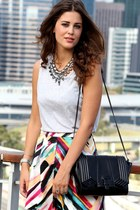 Zara bag - H&M skirt - Sportsgirl top - Zara heels