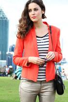 Mango blazer - Zara bag - H&M top