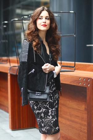 Topshop bag - asos jacket - asos skirt - asos blouse - Topshop heels