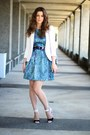 Zara-dress-zara-blazer-zara-bag-sportsgirl-belt-asos-heels