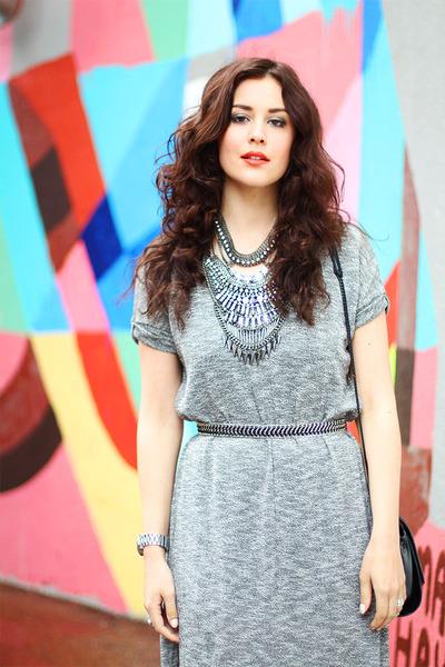Talulah dress - H&M jacket - Topshop bag - sam edelman sandals