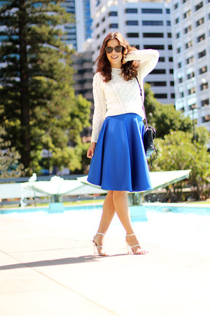 asos skirt - coles sweater - 31 Phillip Lim bag - Karen Walker sunglasses